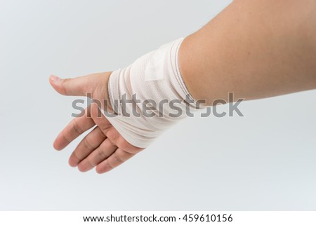hand bone broken from accident with arm splint