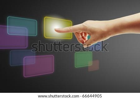 hand business - stock photo
