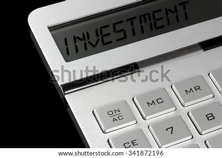 "Hand Calculator - ""INVESTMENT"" Text"