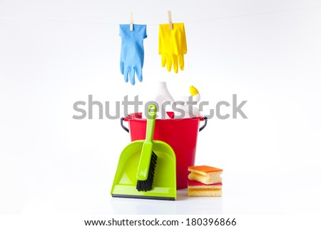 hand cleaning - stock photo