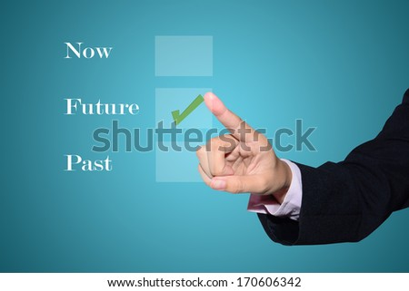 hand click the option  in check box  - stock photo