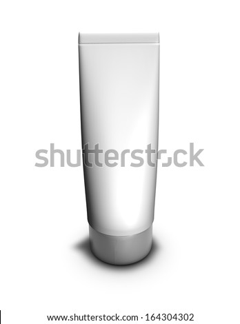 hand cream tube isolated illustration template - stock photo