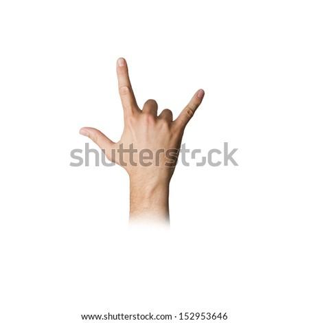 hand disagreement gesture - stock photo