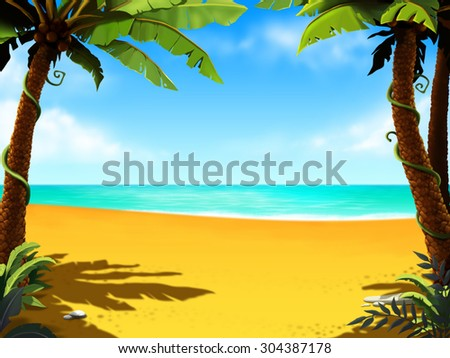 Hand draw beach background hand draw stock illustration 304387178 hand draw beach background hand draw tourhand drawn seaside viewopical beach altavistaventures Image collections