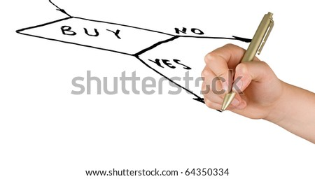 Hand drawing a flow-diagram