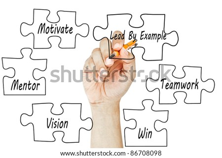 Hand drawing business success - stock photo