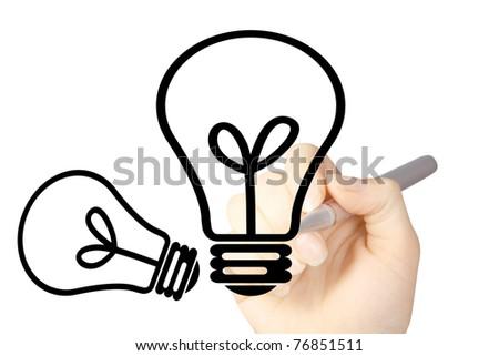 Light Bulb Drawing Hand Drawing Light Bulb