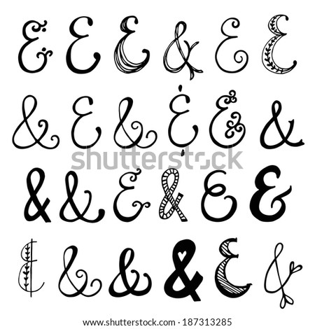 Hand Drawn Ampersands Decorative Ampersand Collection