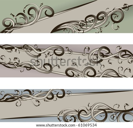 Hand Drawn scroll banners