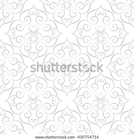 Hand drawn seamless pattern in retro style. Calligraphy design element. Illustration - stock photo