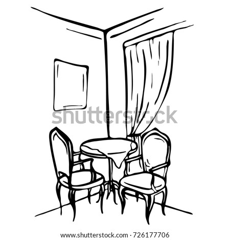dining room clipart black and white. dining room interiortable and chairs clipart black white a