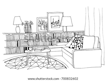 Modern Furniture Sketches furniture sketch stock images, royalty-free images & vectors