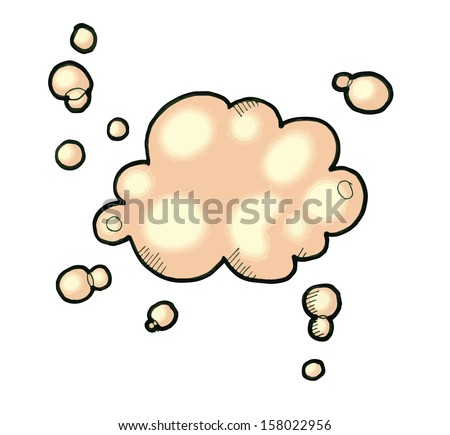 Hand drawn Thought Bubble - stock photo
