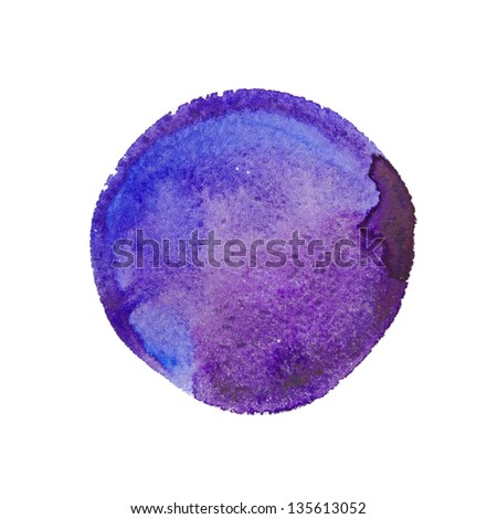 Hand drawn watercolor circle - stock photo