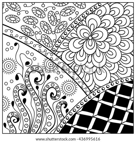 stock photo hand drawn zentangle pattern zen tangle style use for cards invitation coloring pages pattern