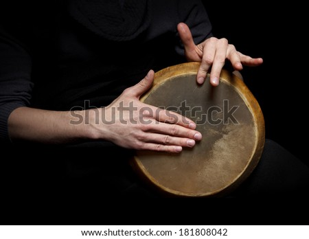 Hand drum - stock photo