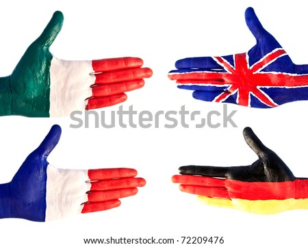 hand flag of Europe