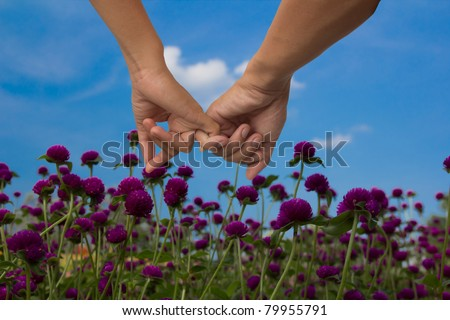 hand for help and love - stock photo