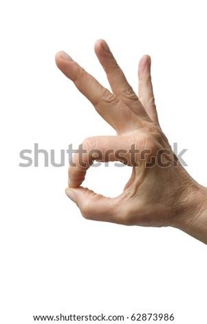 hand gesture ok - stock photo