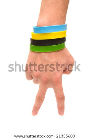 hand gesture two - stock photo