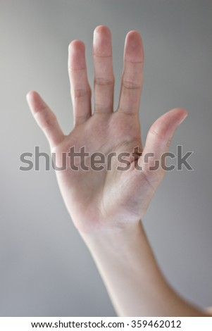 Hand Gestures on a isolated backdrop