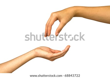 Hand giving - stock photo