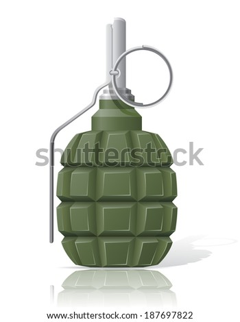 hand grenade illustration isolated on white background
