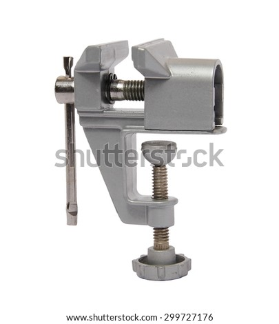 hand grip vise on white background