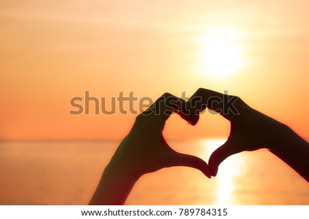 hand heart valentine love sign symbol stock photo 789784315