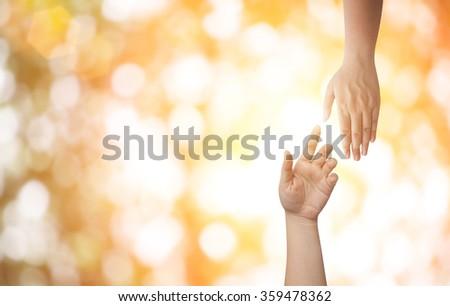 Hand Help - stock photo