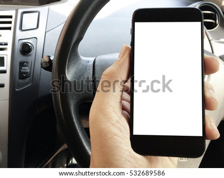 Hand hold smart phone in car