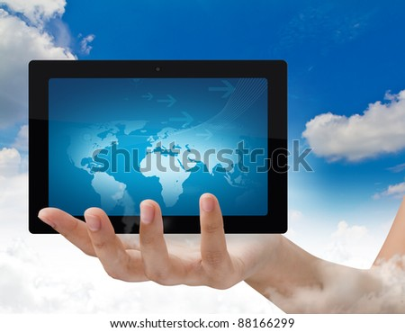Hand hold touchpad