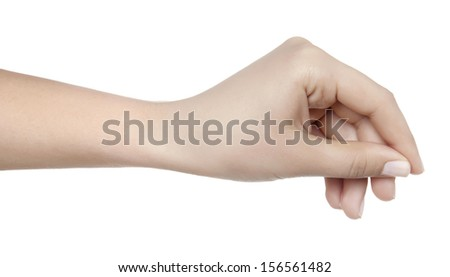 Hand Hold Virtual Card Isolated on white - stock photo