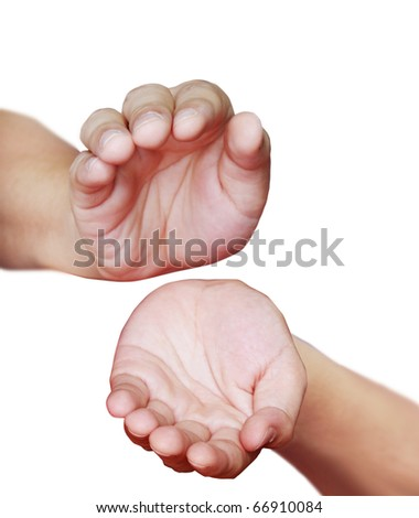 Hand holding - stock photo