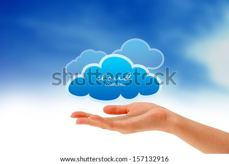 Hand holding a Cloud