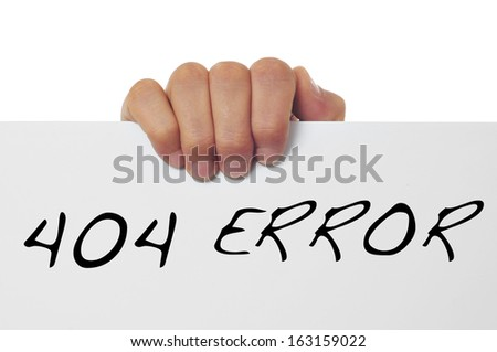 hand holding a signboard with the message 404 error written in it - stock photo