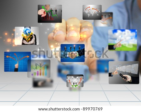 hand holding business collection