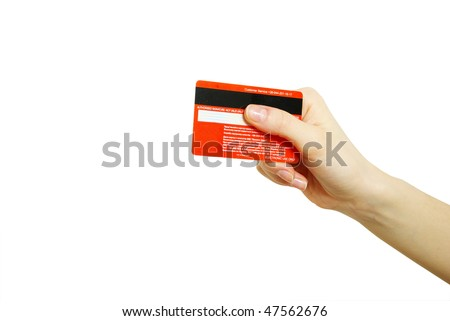 hand holding credit card - stock photo