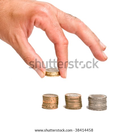 hand holding euro coin