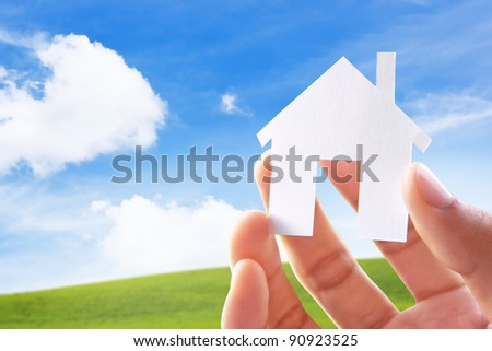 Hand Holding Icon House
