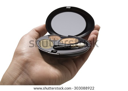 hand holding makeup case