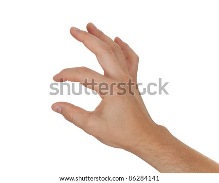 hand holding or showing something - stock photo