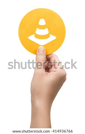 hand holding the construction icon