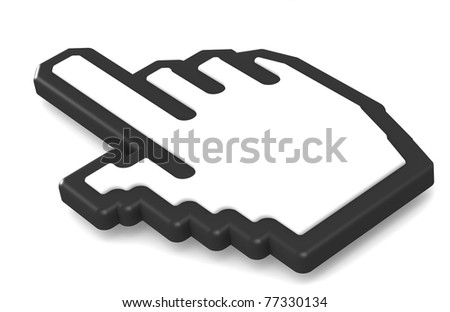 Hand icon 2011 Rounded corners - stock photo