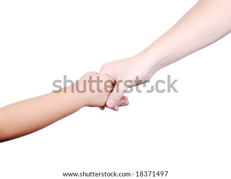 Hand in hand - stock photo