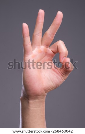 hand in ok sign - stock photo