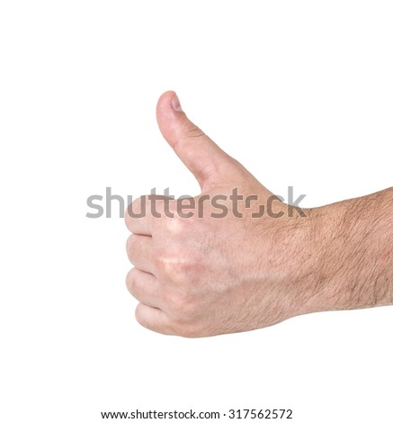 hand isolated on the white background