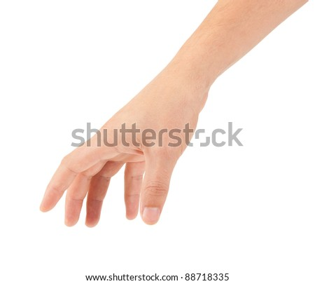 hand isolated on white background