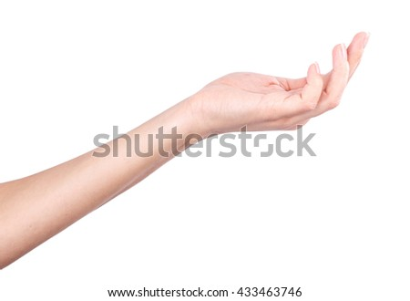 Hand isolated on white background clipping path