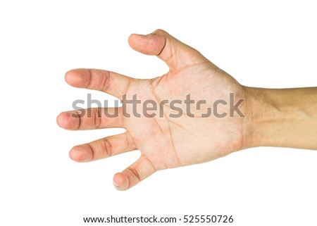 Hand isolated on white background including clipping path.